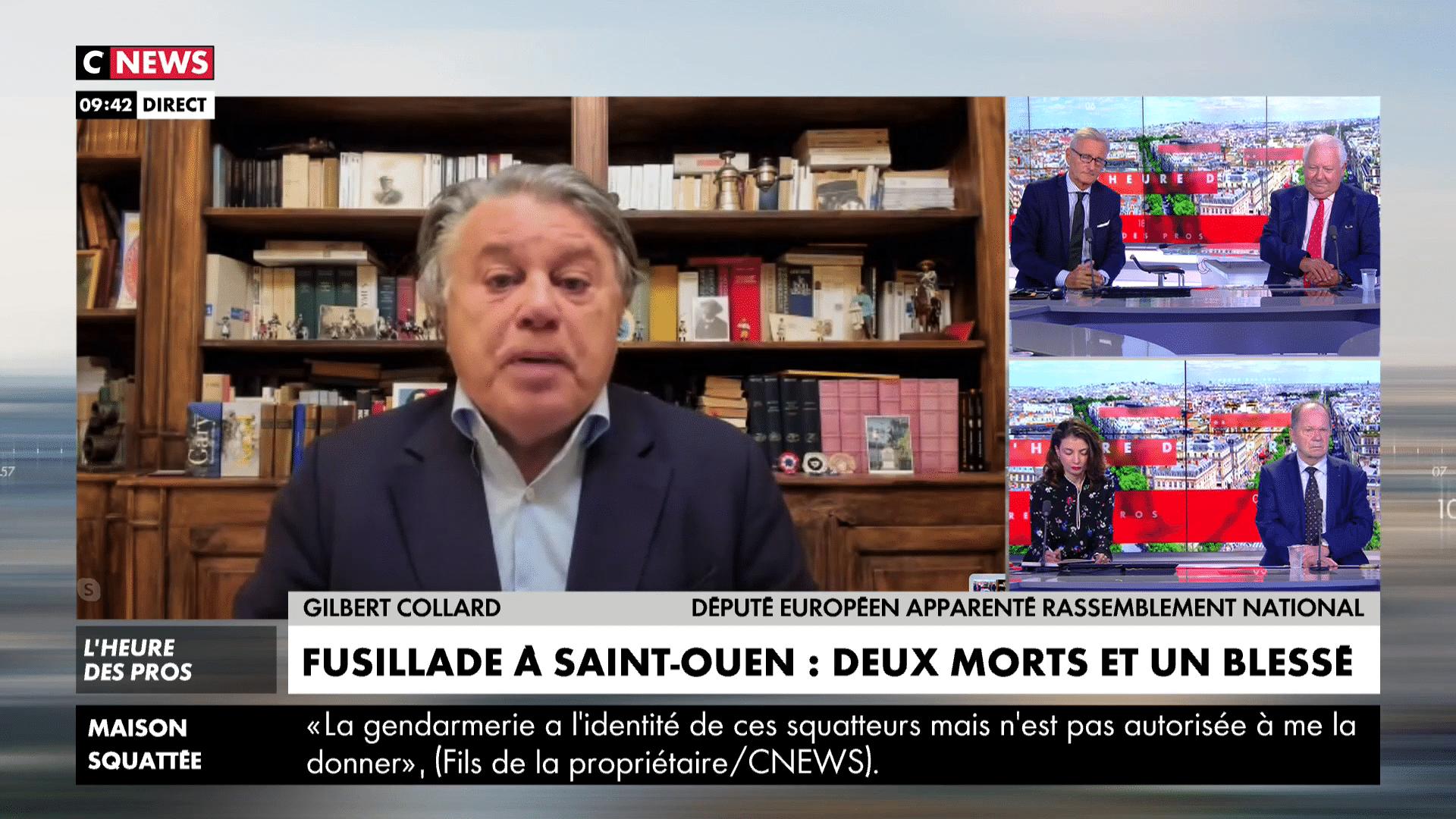 Guerre des gangs à Saint-Ouen, Gilbert Collard réagit sur CNews